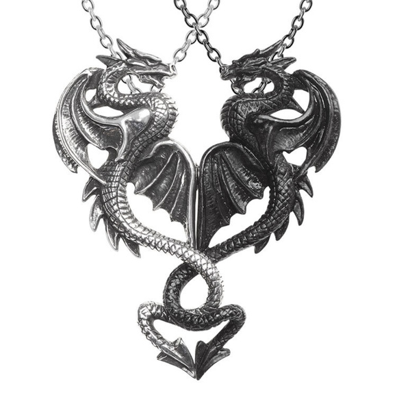 Legends Jewelry - Dragon Twist Love Necklace Medieval Horror Gothic